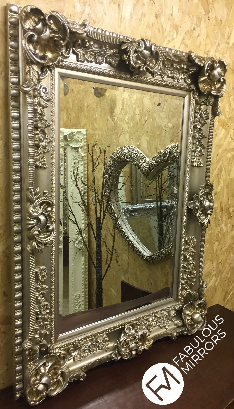 Champagne Ornate Regal Chunky Decorative Wall Mirror Rrp